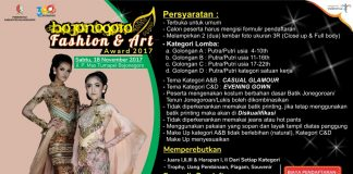 Bojonegoro Fashion & Art Award 2017, BF&A Award 2017